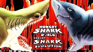 download lagu Hungry Shark Evolution Vs World  - Megalodon Vs gratis