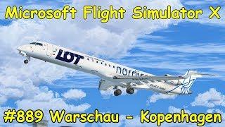 Let's Play Microsoft Flight Simulator X Teil 889 Warschau - Kopenhagen [1/4] CRJ 900   IVAO