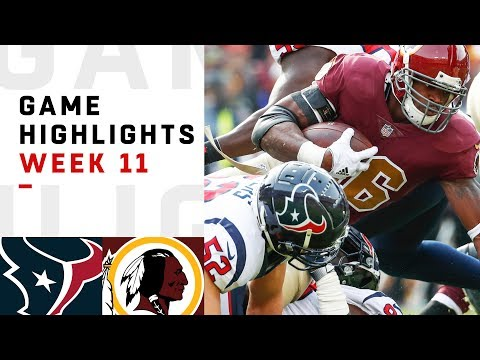 Texans vs. Redskins Week 11 Highlights   NFL 2018