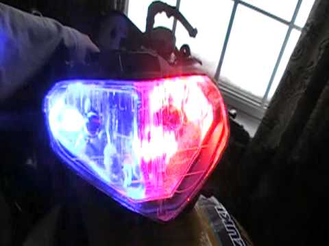 Police lights in my bike Video