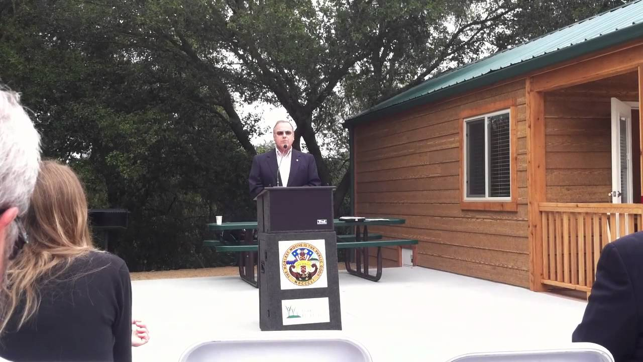 Cabin By The Lake Dedication At Dos Picos County Park In