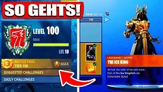 LEVEL 100 TRICK Battle Pass SEASON 7! | SCHNELL LEVELN! - Fortnite Battle Royale | DerFruchtzwerg