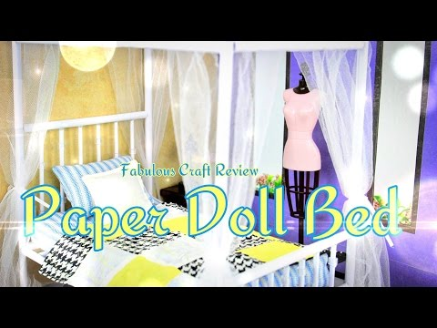 Fabulous Craft Review:  Paper Doll Bed