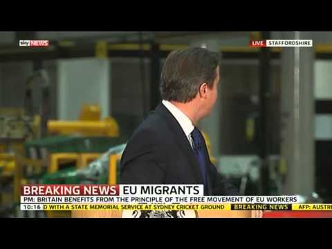 Alarm Interrupts Prime Minister's Immigration Speech
