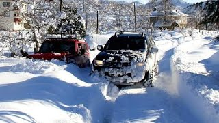 Mitsubishi L200 vs LADA NIVA 1.6 ||  Snow OFF ROAD @TURKEY