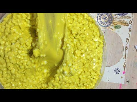 Как СДЕЛАТЬ СЛАЙМ ОТ SlimoShop /Popcorn Slime/Как сделать Попкорн Слайм)🍿🍿🍿
