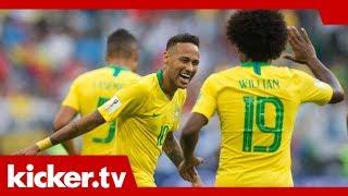 Brasilien gegen Belgien - Willian setzt auf Neymar   kicker.tv