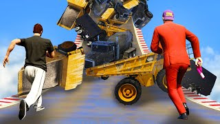 Extreme Vehicle AVALANCHE vs. RUNNERS! (GTA 5 Funny Moments)
