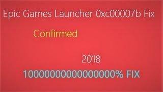 Epic Game Launcher 0xc00007b fix