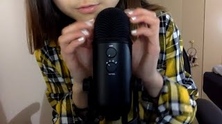 ASMR Tingly Mic Triggers~Mic Tapping, Mouth Sounds & Hand Movements