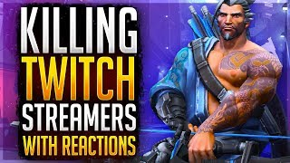 """""""HOW DID HE KNOW"""" KILLING TWITCH STREAMERS #2! Focusing Twitch Streamers (Overwatch)"""
