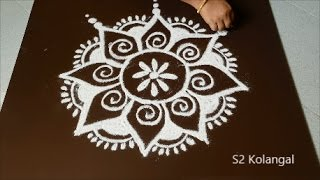 download lagu Easy Freehand Rangoli Designs, Freehand Kolam, Easy Muggulu Designs gratis
