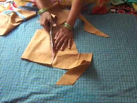Simple Design Blouse Cutting in Telugu