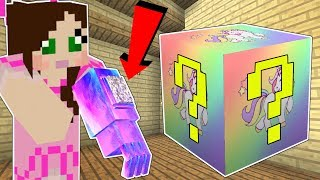 Minecraft: UNICORN LUCKY BLOCK!!! (*OVERPOWERED* RAINBOW GAUNTLET, MINI GUN, & MORE!) Mod Showcase