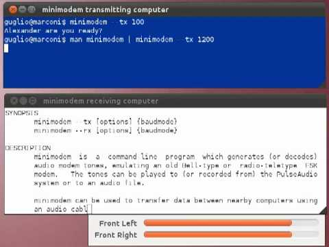 minimodem - general-purpose software audio FSK modem for GNU/Linux systems