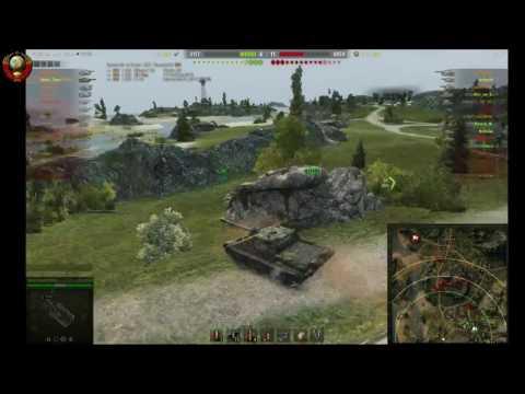 Не плохой бой на  Советской ПТ СУ 122 44