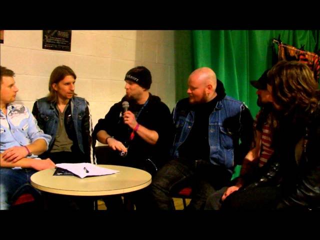 Metal Gods TV's Matt Hill interviews Massive Wagons at Hard Rock Hell 2013