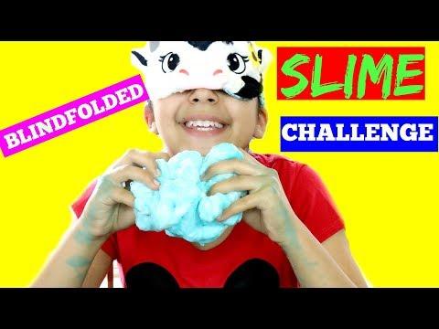 SLIME CHALLENGE Blindfolded!!!B2cutecupcakes