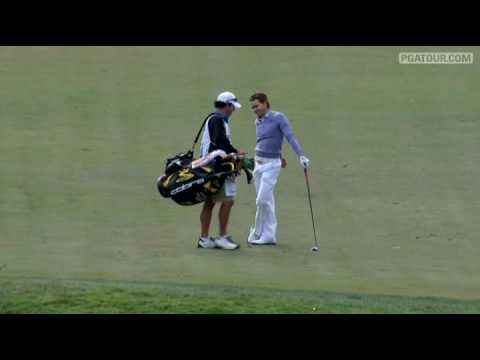 Camilo Villegas makes an albatross on the par-5, 13th hole by dropping his second shot into the cup for a rare double-eagle. For more great shots, visit PGAT...
