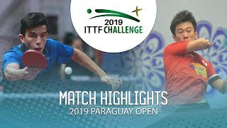 Zhang Kai vs Horacio Cifuentes | 2019 ITTF Paraguay Open Highlights (R16)