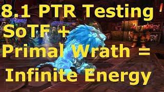 WoW Feral Druid BFA 8.1 PTR Gameplay: Infinite Energy