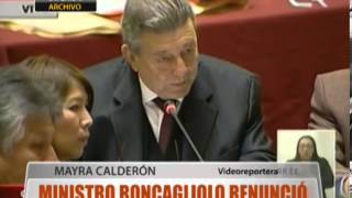 Ministro Roncagliolo Renunci