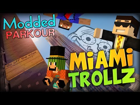 Minecraft Trolling in MIAMI - Minecraft Modded Parkour Map (Florida Parkour Map)