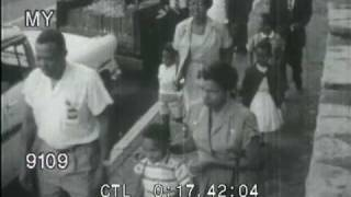 Stock Footage - School Integration and KKK Protests