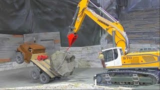 RC CONSTRUCTION FAIL! RC URAL ACCIDENT AT THE CONSTRUCTION! HEAVY TRUCK CRASH! RC RESCUE ACTION