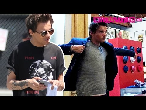 Louis Tomlinson Of One Direction Goes Wardrobe Shopping Before America's Got Talent Appearance
