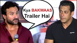 Saif Ali Khan's REACTION On Salman Khan's Race 3 Trailer- Video
