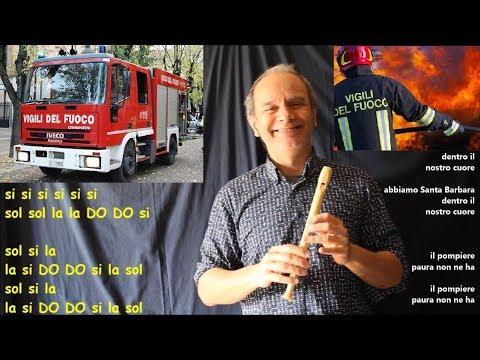 Il Pompiere paura non ne ha (da suonare solo con la mano sinistra)INNO VIGILI DEL FUOCO