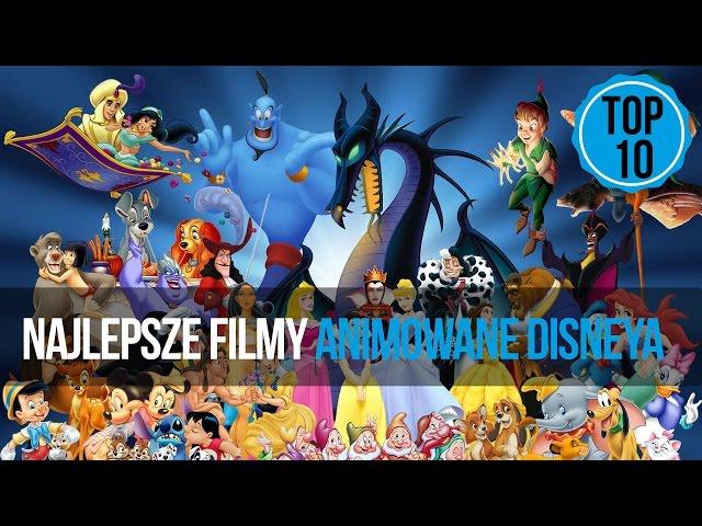 TOP 10 - Najlepsze filmy animowane Disneya