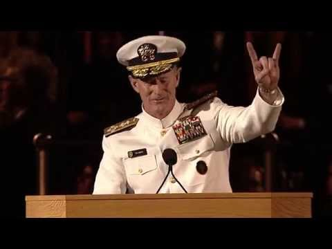 Remarks by Naval Adm. William H. McRaven, BJ '77, ninth commander of U.S.Special Operations Command, Texas Exes Life Member, and Distinguished Alumnus. Unive...