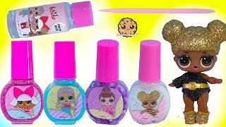 LOL Surprise Super Easy DIY Glitter Nail Polish Maker Makeup Kit - Video