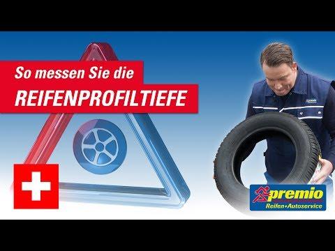 Reifenprofiltiefe messen | Premio Schweiz