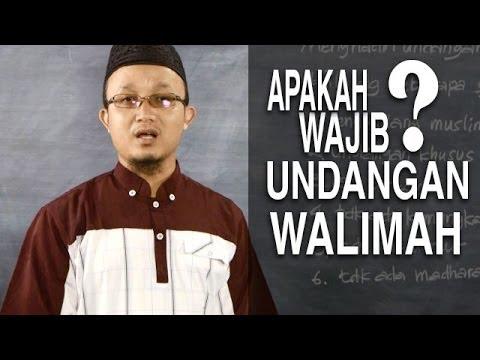 Serial Fikih Keluarga (30): Wajib Menghadiri Undangan Walimah - Ustadz Aris Munandar