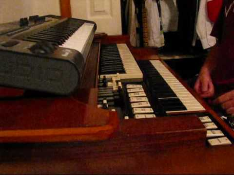 Hammond M3 Organ After Manual Tapering and Foldback Mod