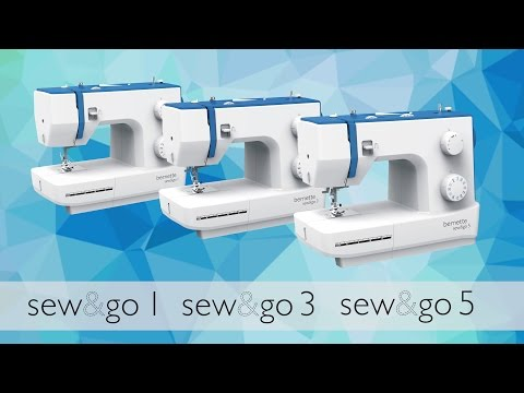 bernette sew&go 1. 3 + 5: threading and preparing to sew