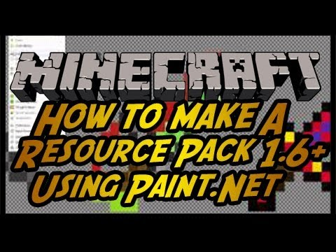 How to Make A Minecraft Resource Pack 1.7.2 w/Paint.net