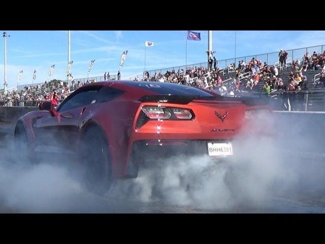 2015 Corvette Z06 w/ Pulley and Tune - 1/4 Mile Drag Video - Street Car Drags