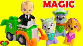 Boss Baby Recycle Surprises with Magical Paw Patrol Ionix Dump Truck
