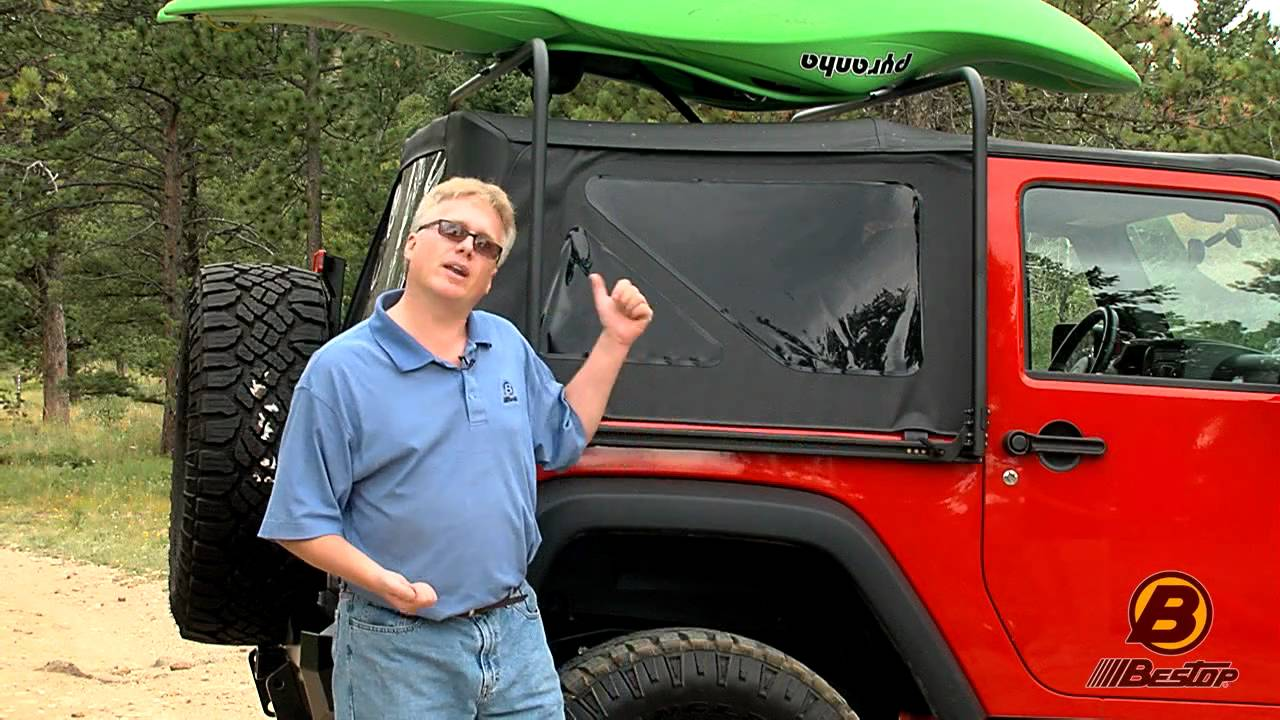 Bestop Highrock 4x4 Overhead Rack For Jeep Wrangler Youtube