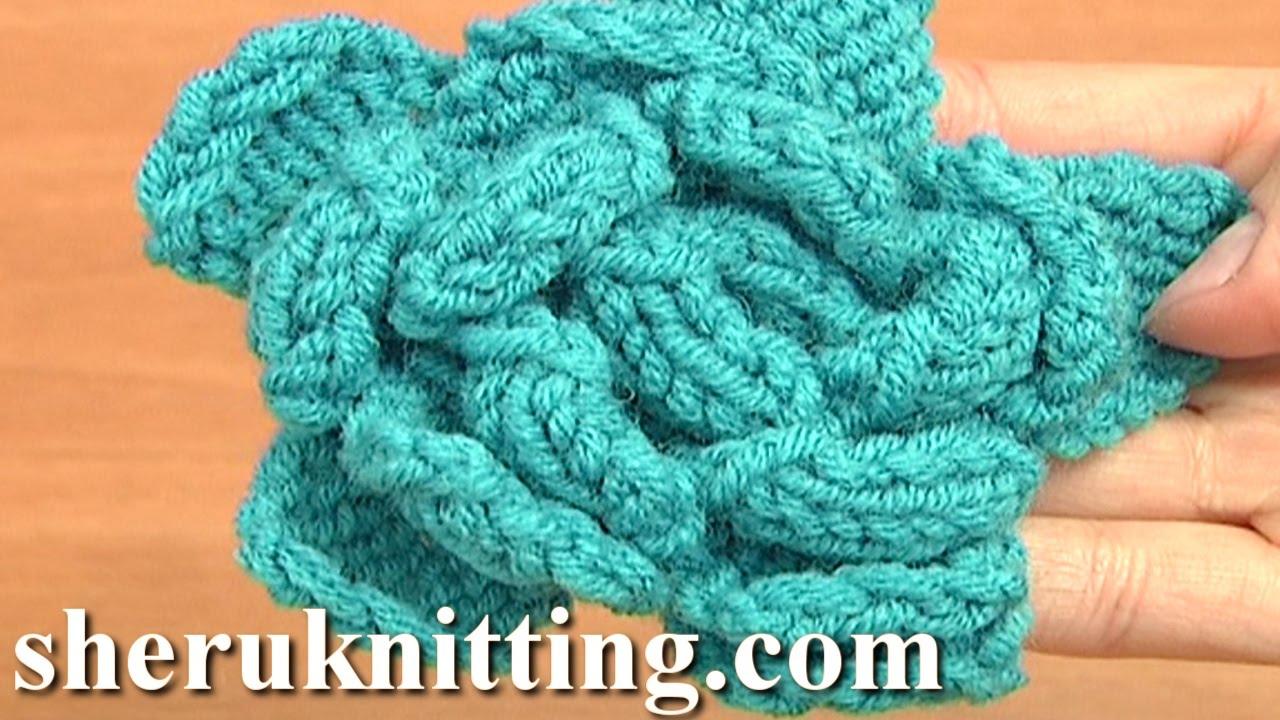 Rose Knitting Pattern : Easy to Knit Rose Flower Tutorial 23 Knitted Flower ...