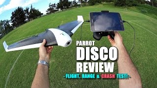 PARROT DISCO Review - [Flight/Crash/Range Test!, Pros & Cons]