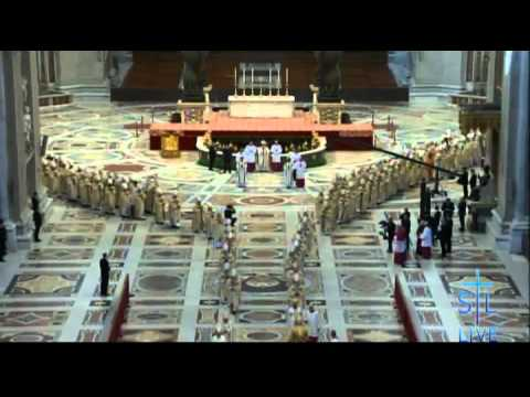 Pope Francis - Prayer at St. Peter's tomb