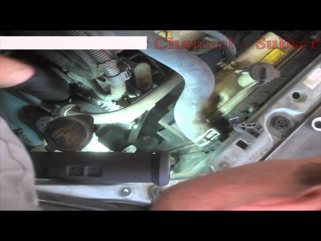Timing belt replacement Toyota Sienna 2006 3.3L PART 1 ...