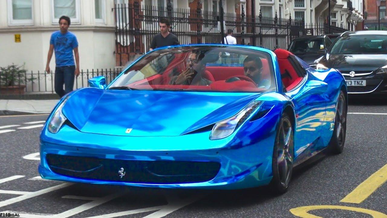 Blue Chrome Paint Cars