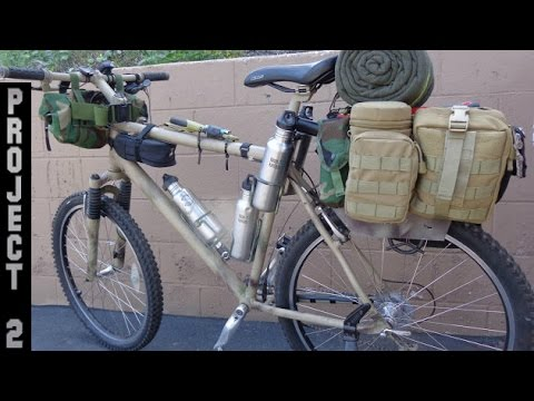 Stealth Bug Out Survival Camping Bikepacking Bike Project 2 Phase 2