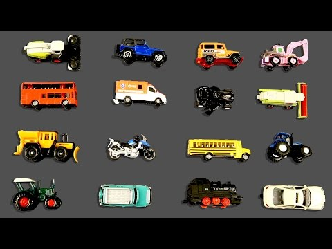 Learning Cars Trucks Street Vehicles for Kids | Cars & Trucks Hot Wheels Matchbox Tomica Toy Cars